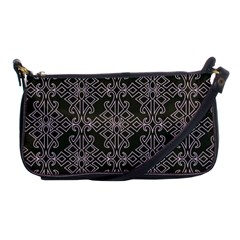 Line Geometry Pattern Geometric Shoulder Clutch Bags by Nexatart
