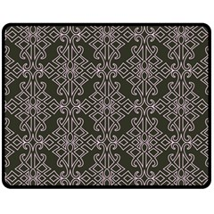 Line Geometry Pattern Geometric Fleece Blanket (medium)  by Nexatart