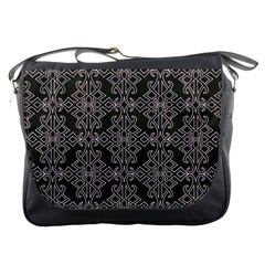 Line Geometry Pattern Geometric Messenger Bags by Nexatart
