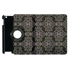 Line Geometry Pattern Geometric Apple Ipad 2 Flip 360 Case by Nexatart