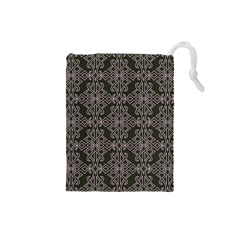 Line Geometry Pattern Geometric Drawstring Pouches (small)