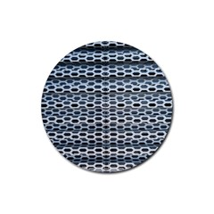 Texture Pattern Metal Rubber Round Coaster (4 Pack)  by Nexatart