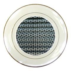 Texture Pattern Metal Porcelain Plates