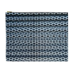 Texture Pattern Metal Cosmetic Bag (xl)