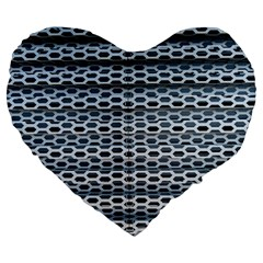 Texture Pattern Metal Large 19  Premium Flano Heart Shape Cushions