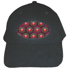 Abstract Circle Gem Pattern Black Cap by Nexatart