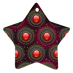 Abstract Circle Gem Pattern Ornament (star)