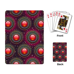 Abstract Circle Gem Pattern Playing Card by Nexatart