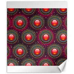 Abstract Circle Gem Pattern Canvas 8  X 10  by Nexatart