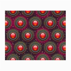 Abstract Circle Gem Pattern Small Glasses Cloth (2 Side) by Nexatart