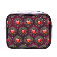Abstract Circle Gem Pattern Mini Toiletries Bags by Nexatart