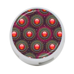 Abstract Circle Gem Pattern 4 Port Usb Hub (two Sides)  by Nexatart