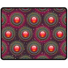Abstract Circle Gem Pattern Fleece Blanket (medium)