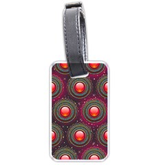 Abstract Circle Gem Pattern Luggage Tags (one Side)