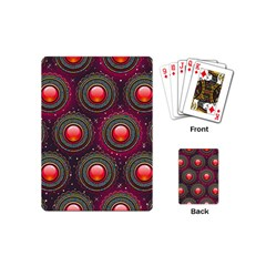 Abstract Circle Gem Pattern Playing Cards (mini)  by Nexatart