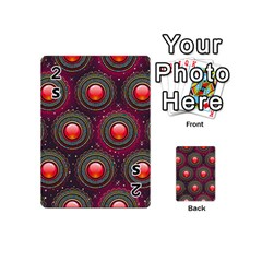 Abstract Circle Gem Pattern Playing Cards 54 (mini)  by Nexatart
