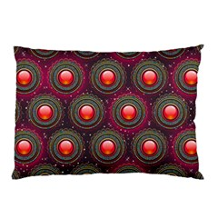 Abstract Circle Gem Pattern Pillow Case (two Sides) by Nexatart