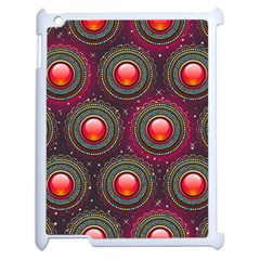 Abstract Circle Gem Pattern Apple Ipad 2 Case (white) by Nexatart