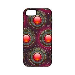 Abstract Circle Gem Pattern Apple Iphone 5 Classic Hardshell Case (pc+silicone)