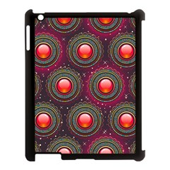 Abstract Circle Gem Pattern Apple Ipad 3/4 Case (black)
