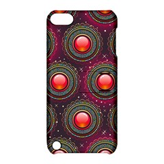 Abstract Circle Gem Pattern Apple Ipod Touch 5 Hardshell Case With Stand