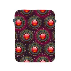Abstract Circle Gem Pattern Apple Ipad 2/3/4 Protective Soft Cases by Nexatart