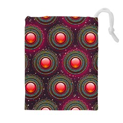 Abstract Circle Gem Pattern Drawstring Pouches (extra Large)