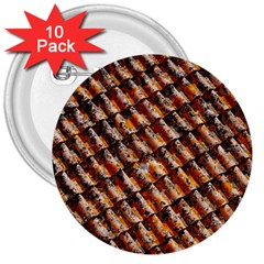 Dirty Pattern Roof Texture 3  Buttons (10 Pack)  by Nexatart