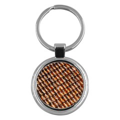Dirty Pattern Roof Texture Key Chains (round)  by Nexatart