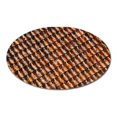 Dirty Pattern Roof Texture Oval Magnet by Nexatart