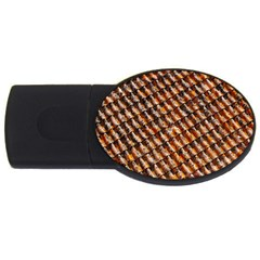 Dirty Pattern Roof Texture Usb Flash Drive Oval (2 Gb)