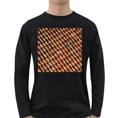 Dirty Pattern Roof Texture Long Sleeve Dark T Shirts
