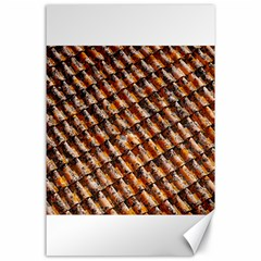 Dirty Pattern Roof Texture Canvas 24  X 36  by Nexatart