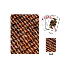 Dirty Pattern Roof Texture Playing Cards (mini)