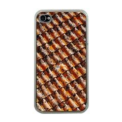 Dirty Pattern Roof Texture Apple Iphone 4 Case (clear)