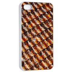 Dirty Pattern Roof Texture Apple Iphone 4/4s Seamless Case (white) by Nexatart