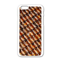 Dirty Pattern Roof Texture Apple Iphone 6/6s White Enamel Case by Nexatart