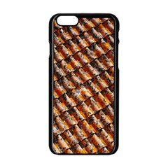 Dirty Pattern Roof Texture Apple Iphone 6/6s Black Enamel Case by Nexatart