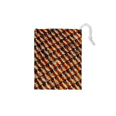 Dirty Pattern Roof Texture Drawstring Pouches (xs)