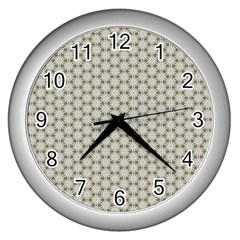 Background Website Pattern Soft Wall Clocks (silver)  by Nexatart