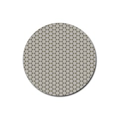 Background Website Pattern Soft Rubber Round Coaster (4 Pack)