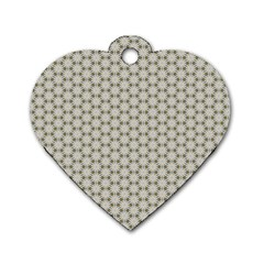 Background Website Pattern Soft Dog Tag Heart (one Side)