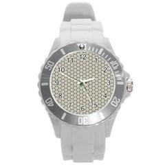Background Website Pattern Soft Round Plastic Sport Watch (l) by Nexatart