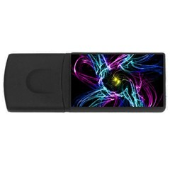 Abstract Art Color Design Lines Usb Flash Drive Rectangular (4 Gb) by Nexatart
