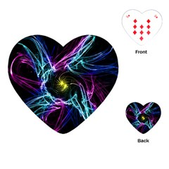 Abstract Art Color Design Lines Playing Cards (heart)