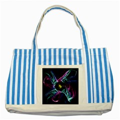 Abstract Art Color Design Lines Striped Blue Tote Bag by Nexatart