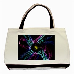 Abstract Art Color Design Lines Basic Tote Bag (two Sides) by Nexatart