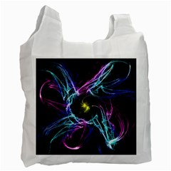 Abstract Art Color Design Lines Recycle Bag (one Side) by Nexatart