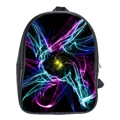 Abstract Art Color Design Lines School Bags(large)  by Nexatart