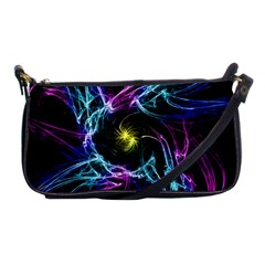 Abstract Art Color Design Lines Shoulder Clutch Bags by Nexatart
